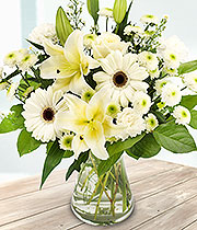 Pure and Simple Hand Tied Bouquet in Whites and Creams