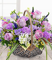 Purple Basket Arrangement